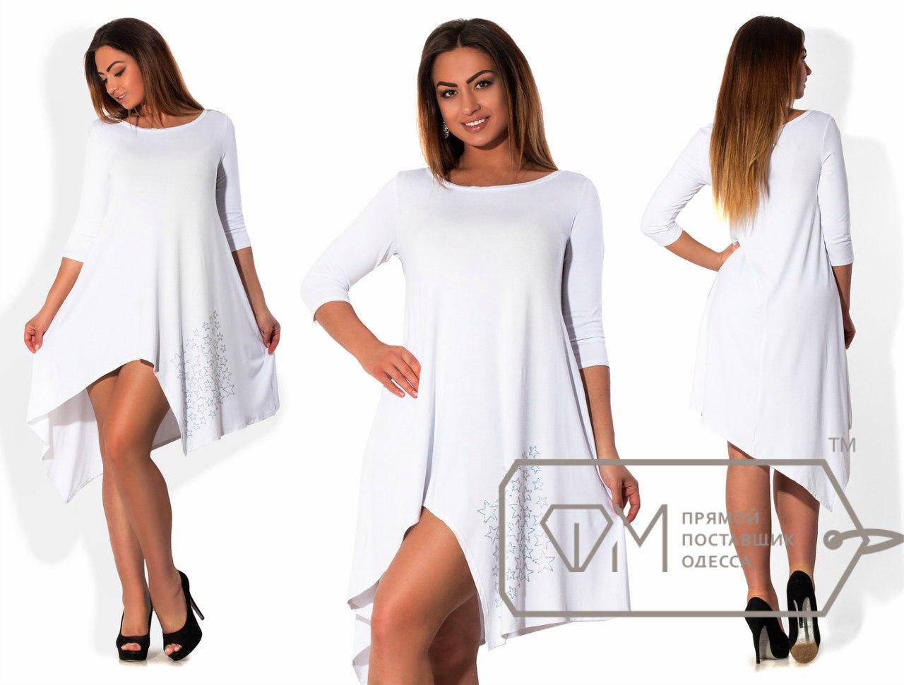 Платье с асимметричным низом сшить