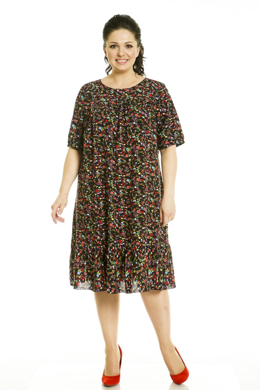 Платья в мелкий цветочек для полных женщин