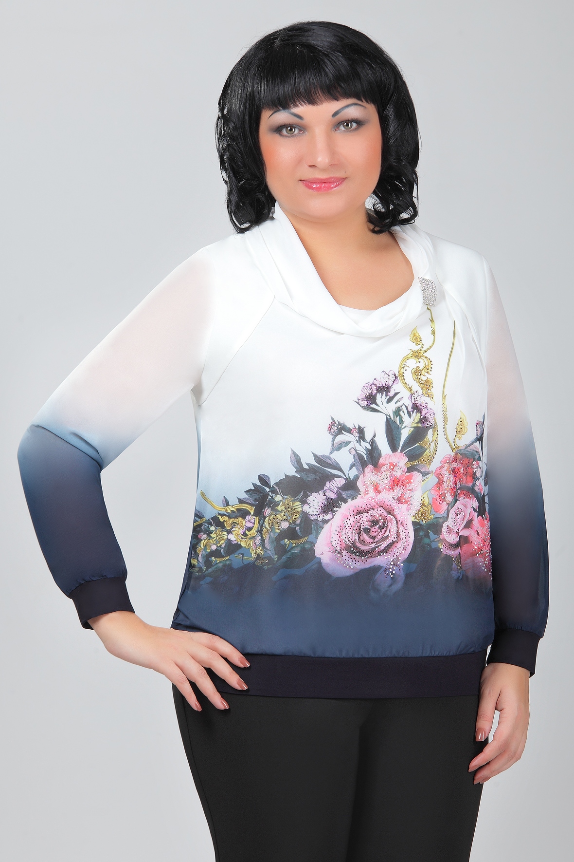Купить Красивые Блузки Больших Размеров В Интернет Магазине Недорого