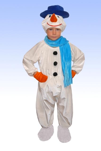 Как сшить костюм снеговика для мальчика своими