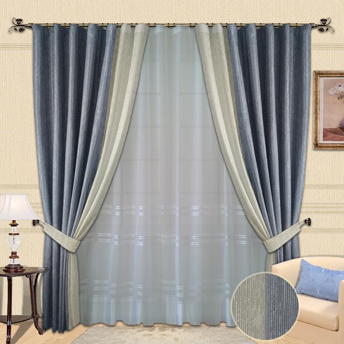Шторы для голубой спальни фото