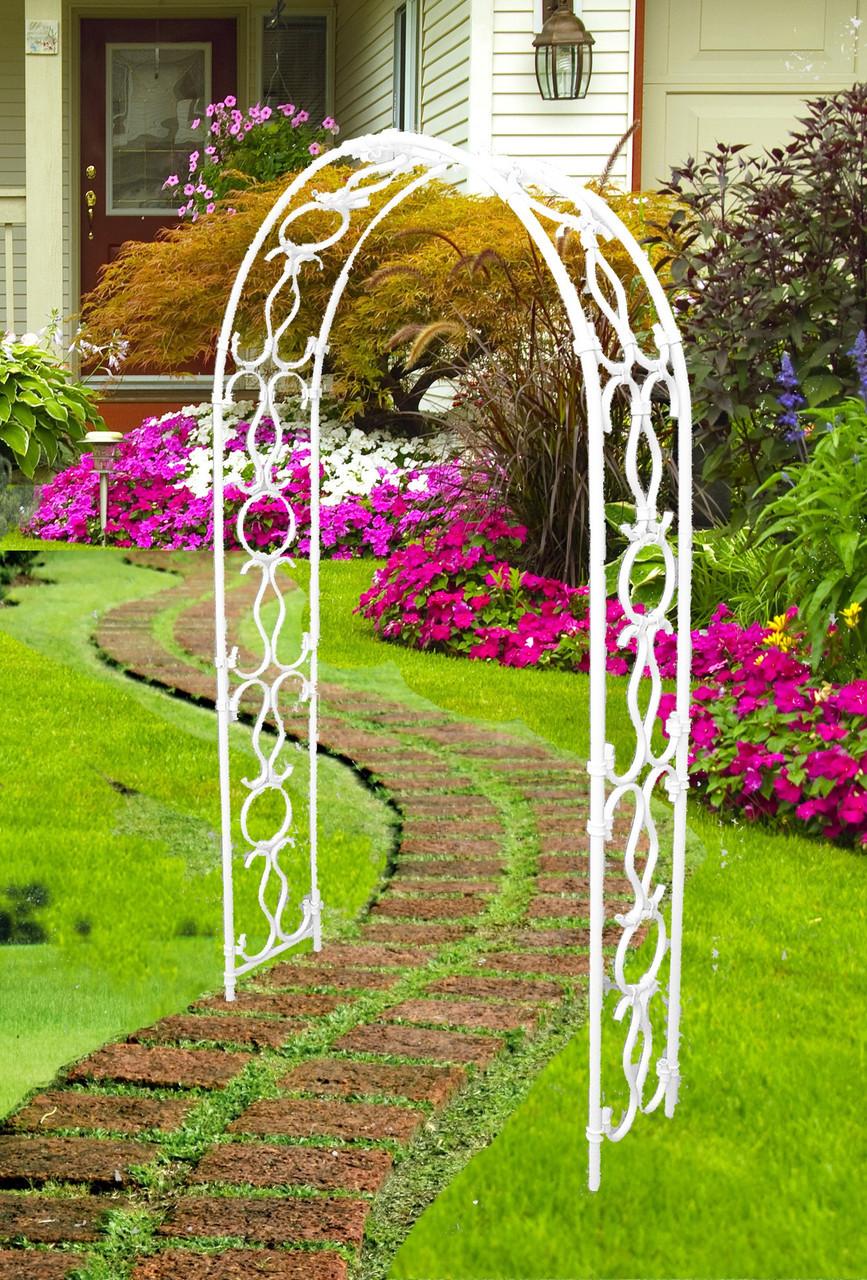 Арка для цветов металлическая на даче