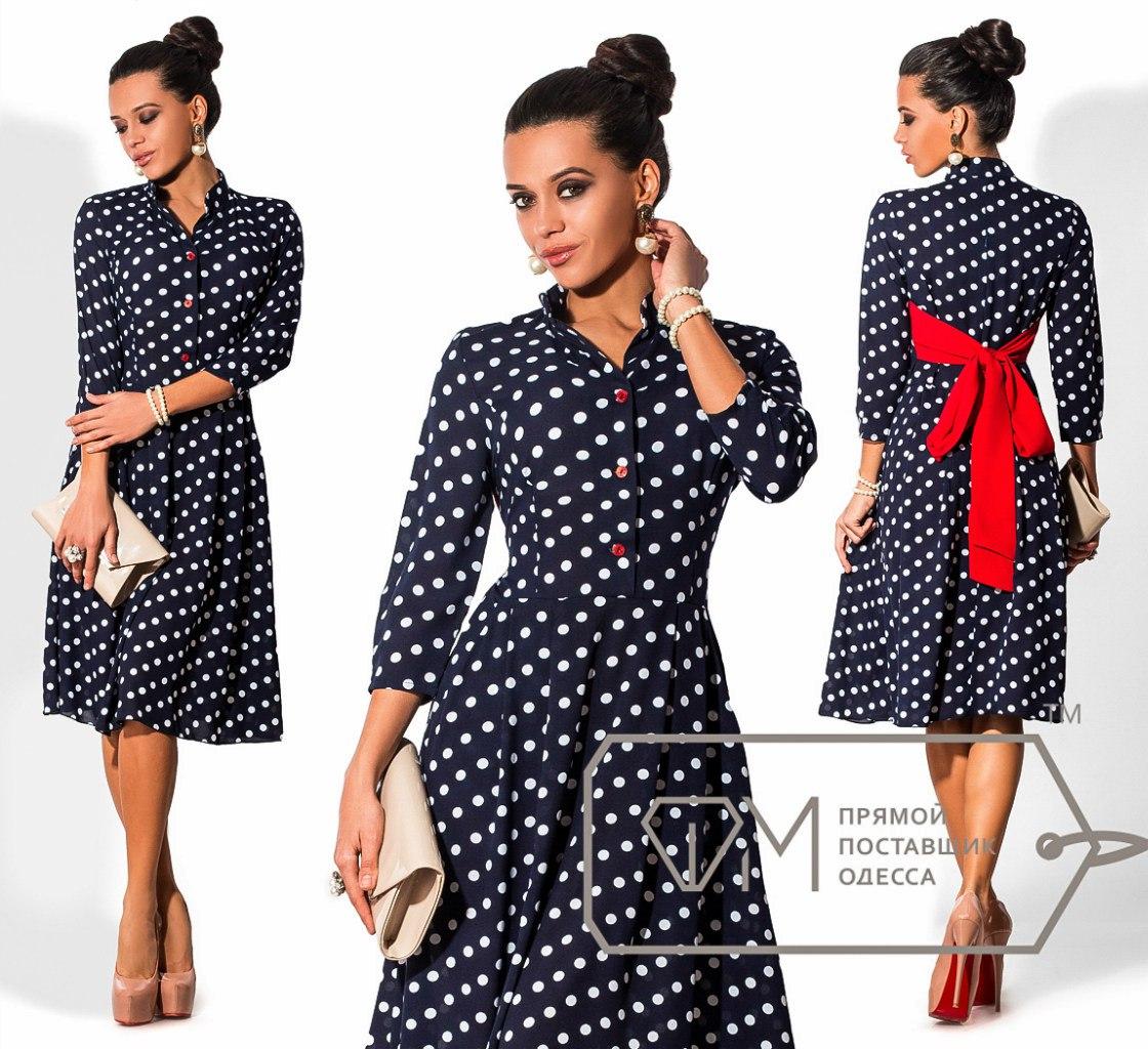 Фото моделей платьев в горошек
