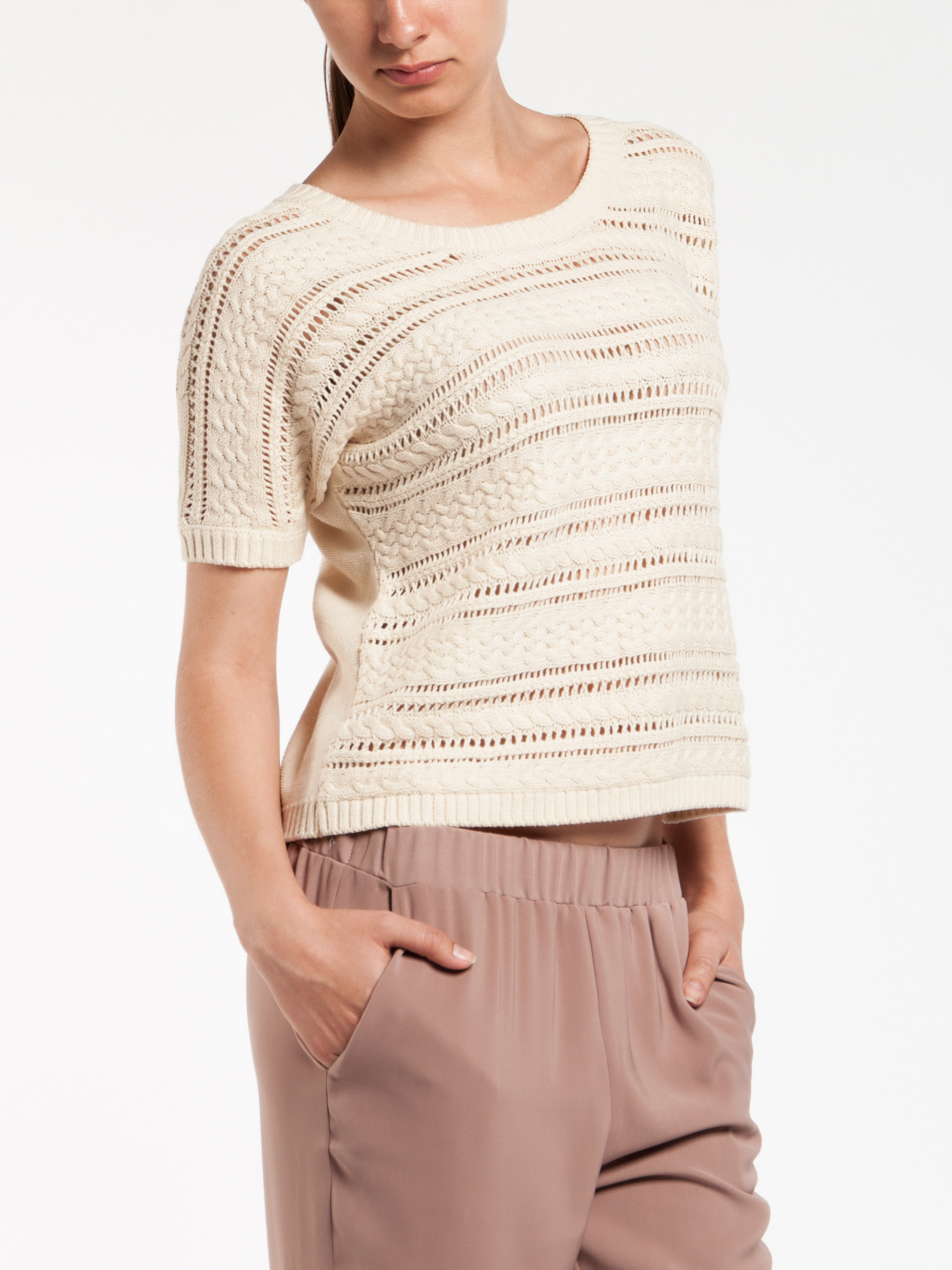 пуловер из кид мохера реглан