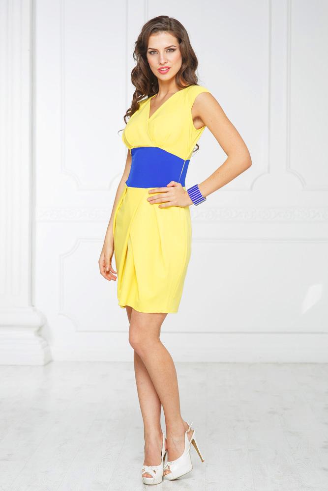 Платье Желто Синее С Доставкой