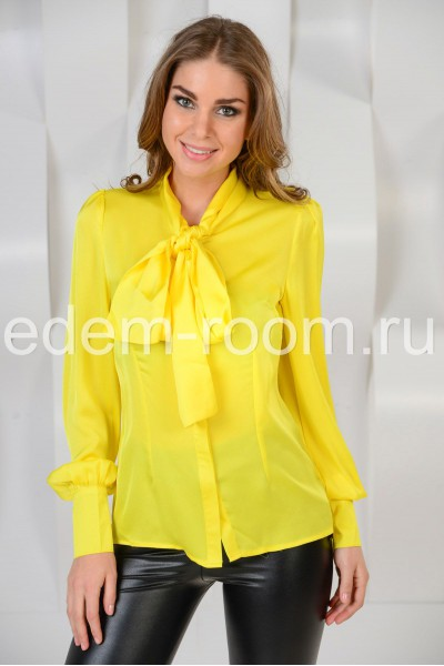 Блузка желтая купить доставка