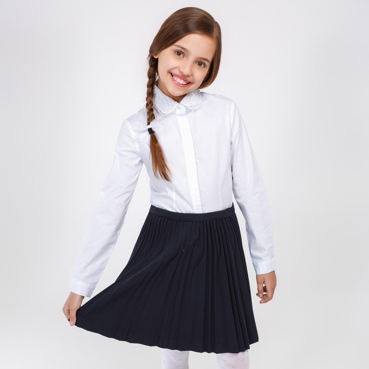 Школьная Форма Ажурная Белая Блузка