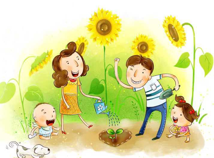 рисунки красивые моя семья