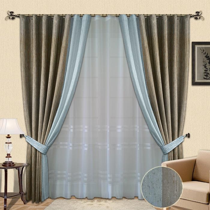 Комбинированные шторы для спальни фото