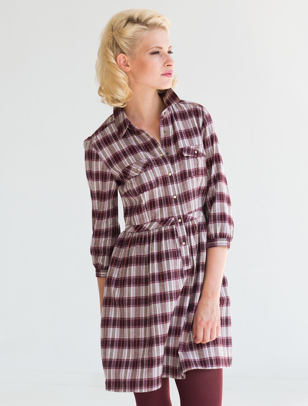 Платье из фланели женское