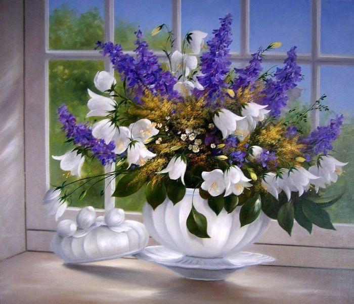 Фото картины красивые цветы