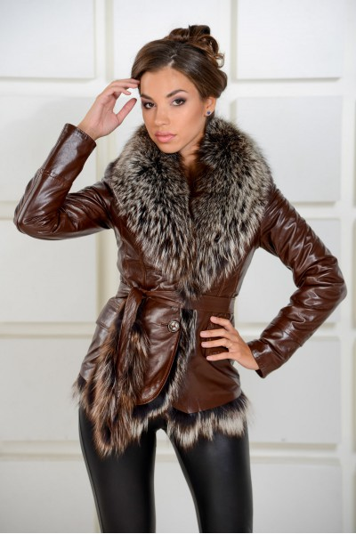 Купить Стильную Женскую Зимнюю Кожаную Куртку С