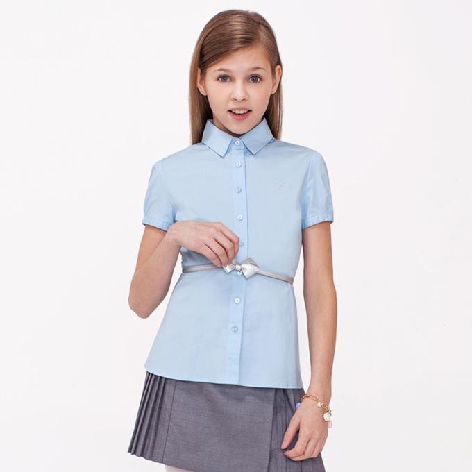 Блузка Голубая Для Девочки