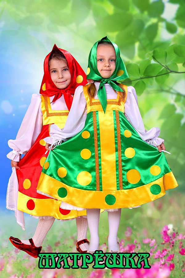 Платье матрешки для девочки 389