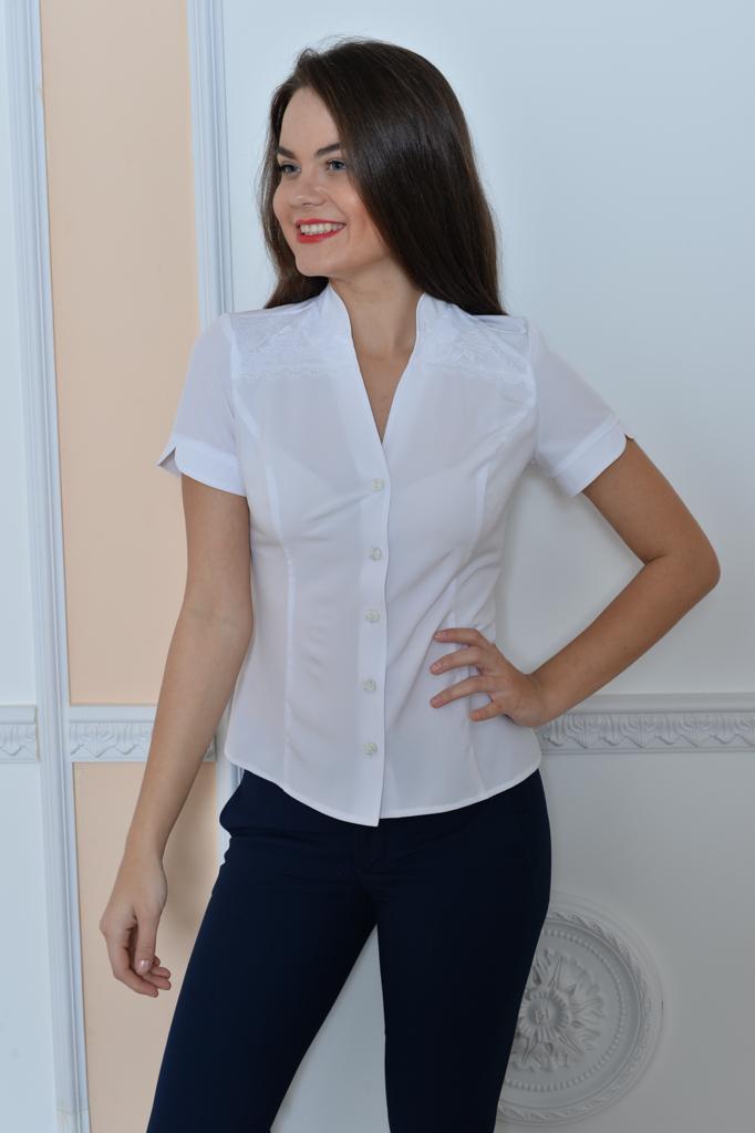 Белая блузка для полных с доставкой