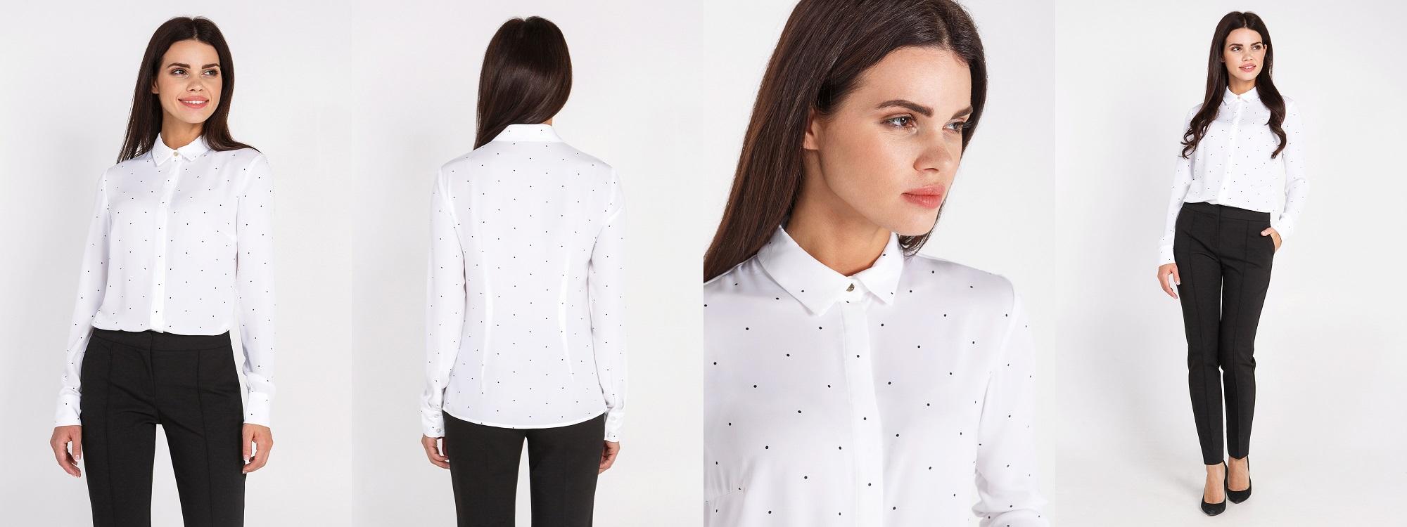 Белые Блузки Xxs Colambina Для Офиса Купить