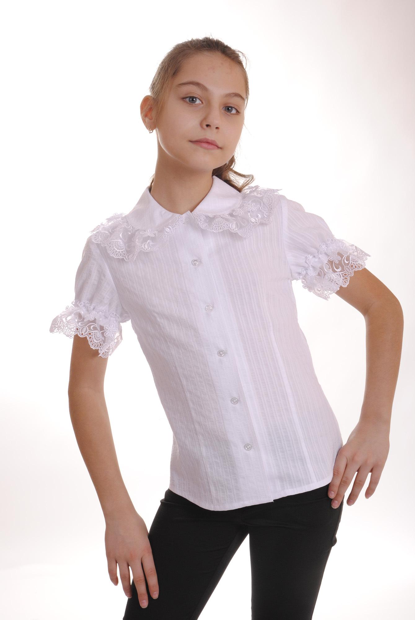 Фасон белой блузки 7