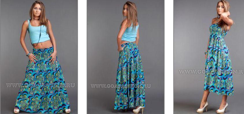 Купить юбку в пол летнюю недорого