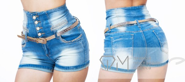 Как сделать из джинс с завышенной талией шорты