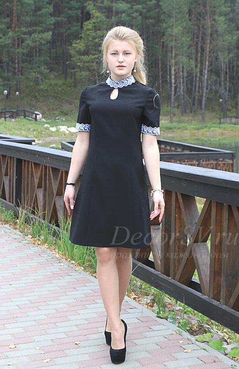 Школьное платье короткий рукав